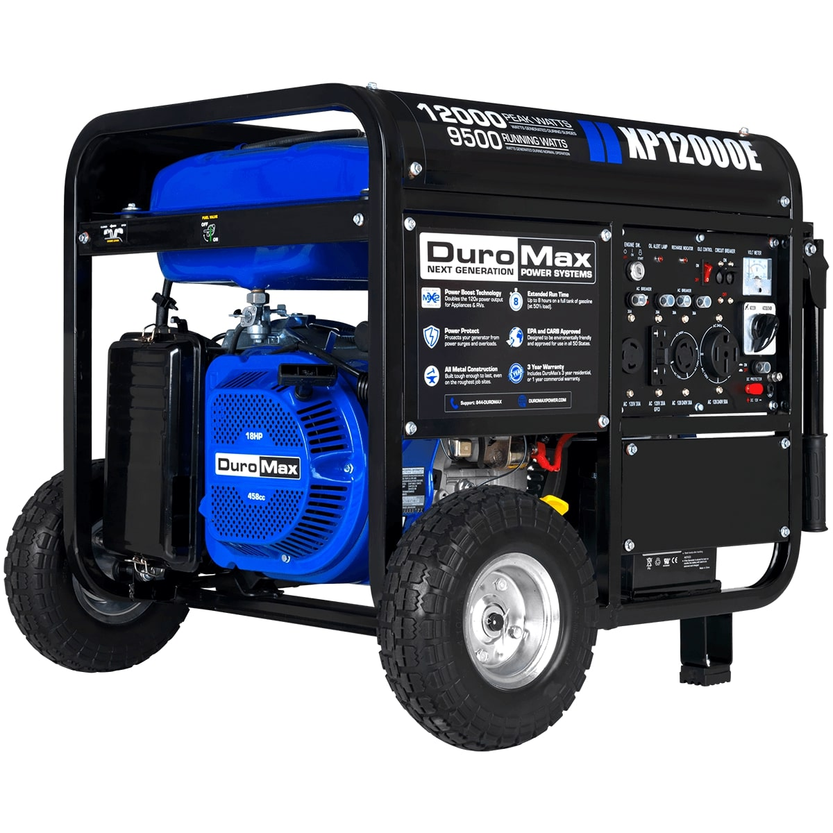 duromax xp12000e 12000 watt portable gas electric start generator home standby ebay. Black Bedroom Furniture Sets. Home Design Ideas