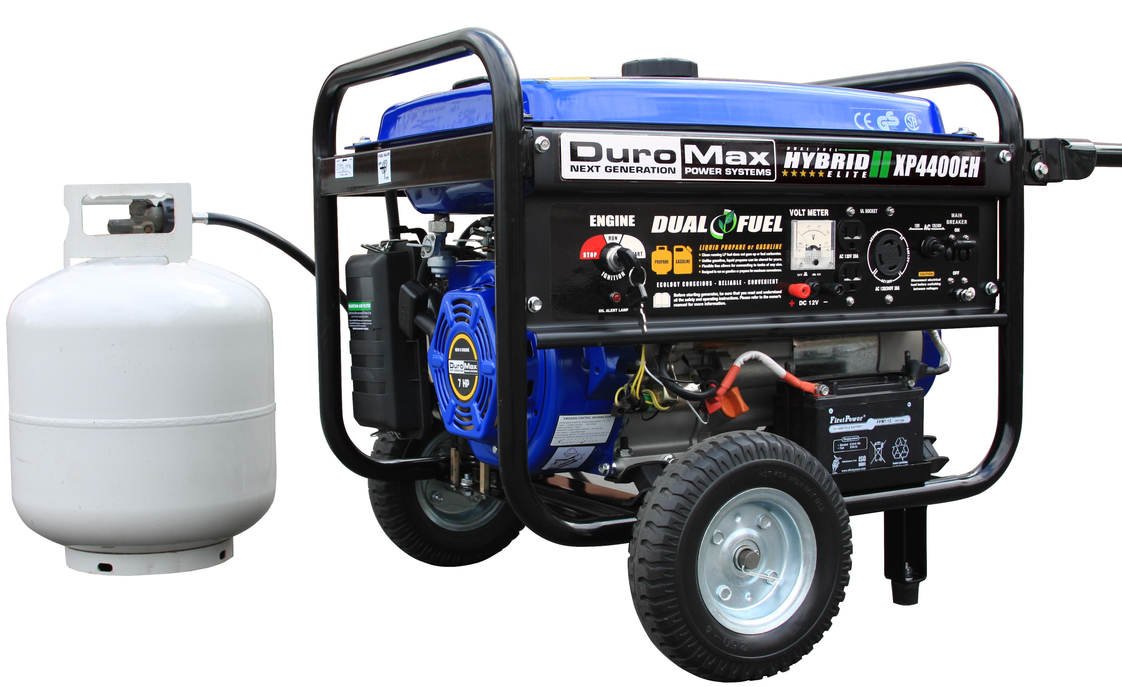 Duromax Xp4400eh Dual Fuel 4 400 Watt Hybrid Propane