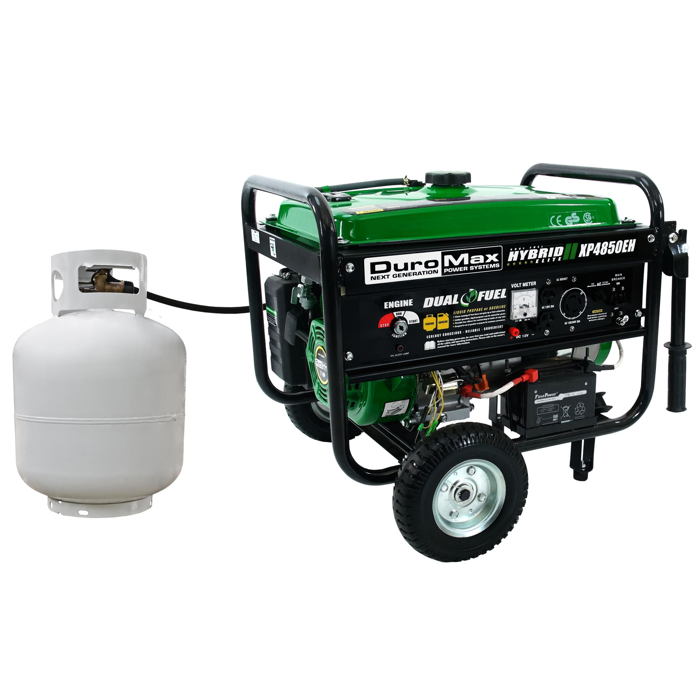 Duromax Xp4850eh 4850 Watt Dual Fuel Hybrid Generator W Electric Start Circuit Breaker Ebay