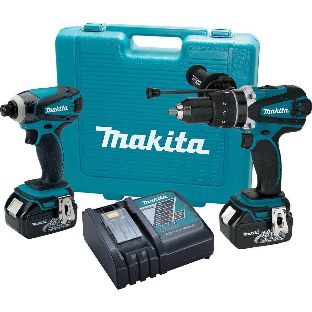 makita xt218 18v lxt 3 0 ah cordless li ion hammer drill. Black Bedroom Furniture Sets. Home Design Ideas