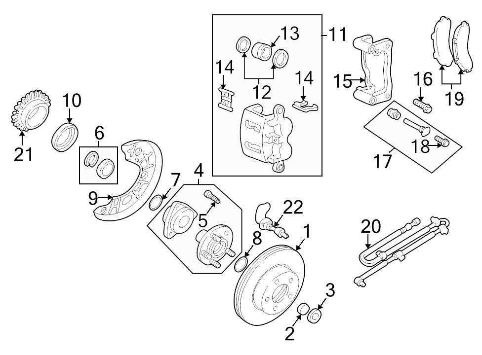 New Genuine Oem Front Axle Brake Rotor Lock Nut Mazda Bseries 9xb0