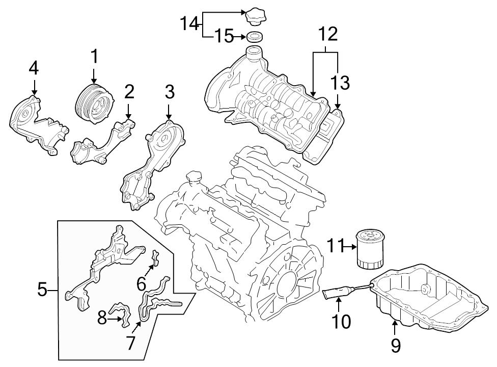 Mazda Kj0110520b Genuine Oem Timing Cover