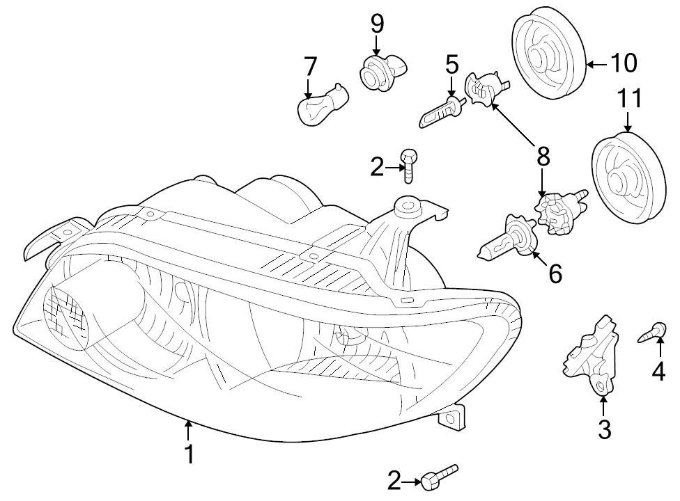 Brand New Genuine Mazda Oem Headlight Bulb Cap T061 51 0a1