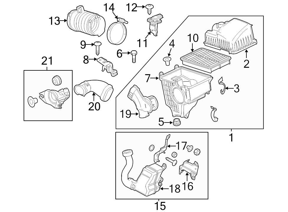 Buy Mazda Oem 12 13 3 Air Intake Air Cleaner Assembly Pe2g13320d
