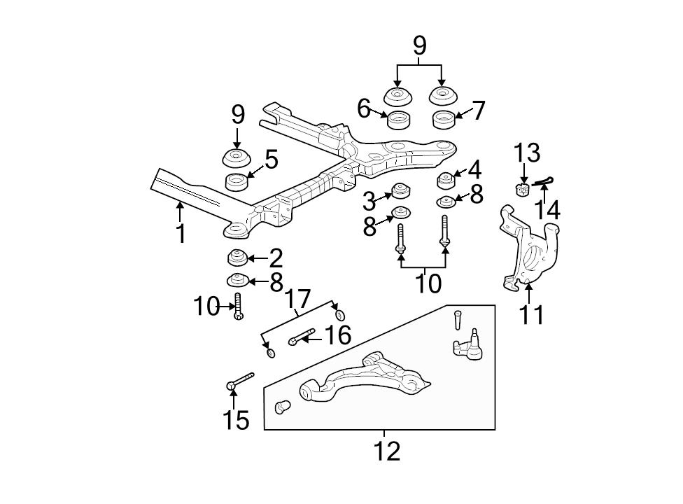 Brand New Genuine Gm Oem Suspension Control Arm 25766510