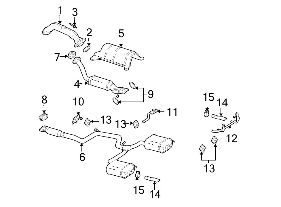 New Oem Rh Or Lh Rear Muffler Tailpipe Insulator 2003 2005 Chevrolet