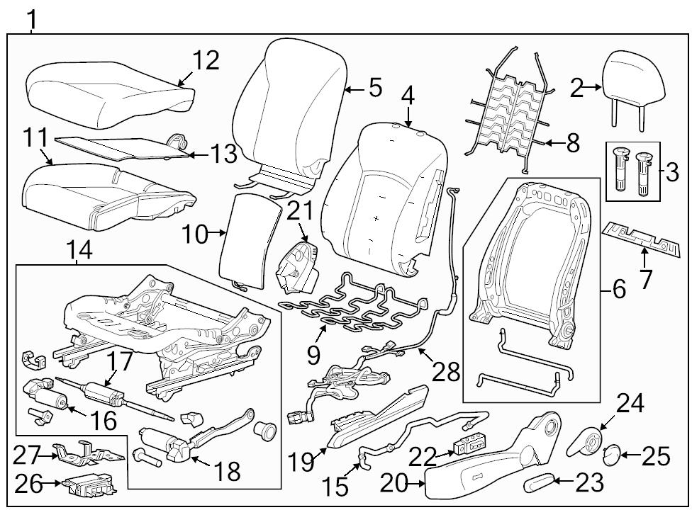 Brand New Genuine Gm Oem Seat Frame 13581475