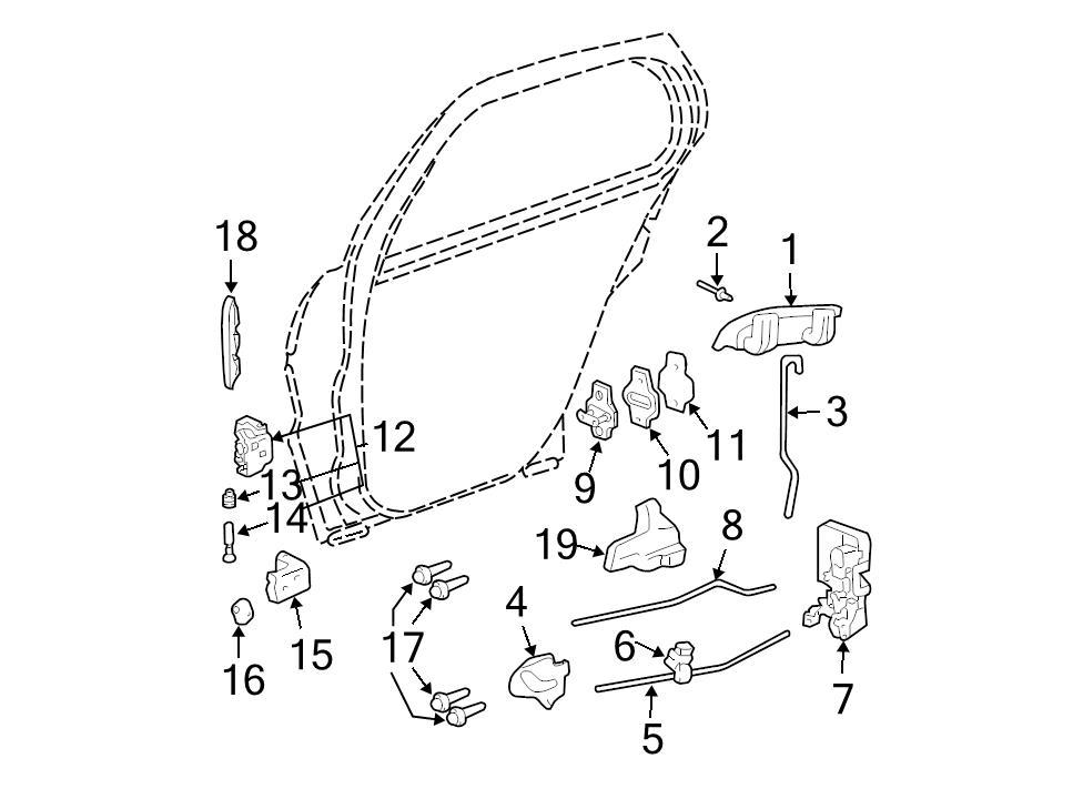 Brand New Genuine Gm Oem Door Hinge Detent Roller 20058035