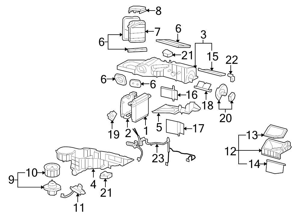Brand New Genuine Gm Oem Hvac Blower Motor 22741027 696392500572