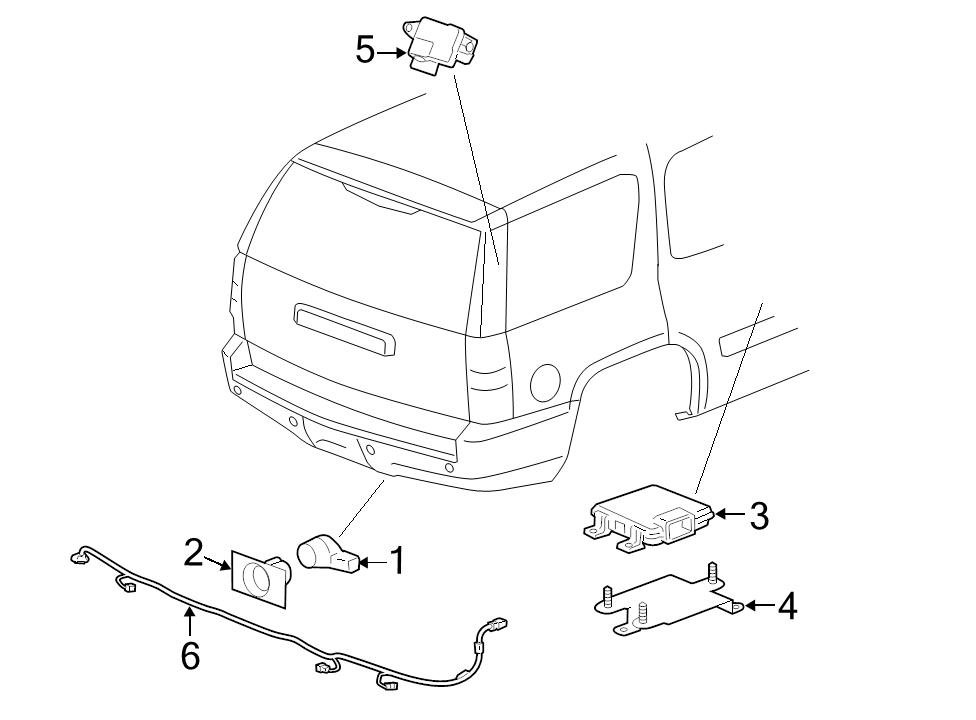 Brand New Genuine Gm Oem Parking Aid System Wiring Harness 22899761