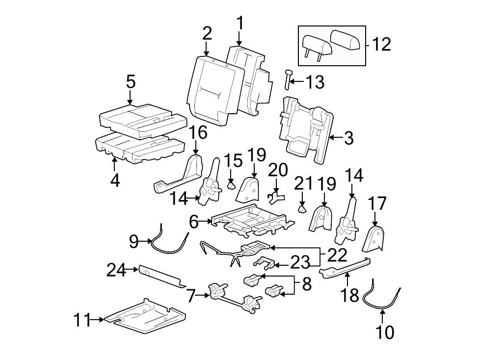 brand new genuine gm oem folding seat release cable 25913454 ebay 00 Tahoe 3rd Row Seat identifed in schematic if applicable