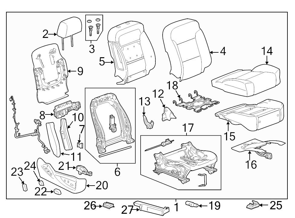 Brand New Genuine Gm Oem Seat Track Position Sensor 22886642