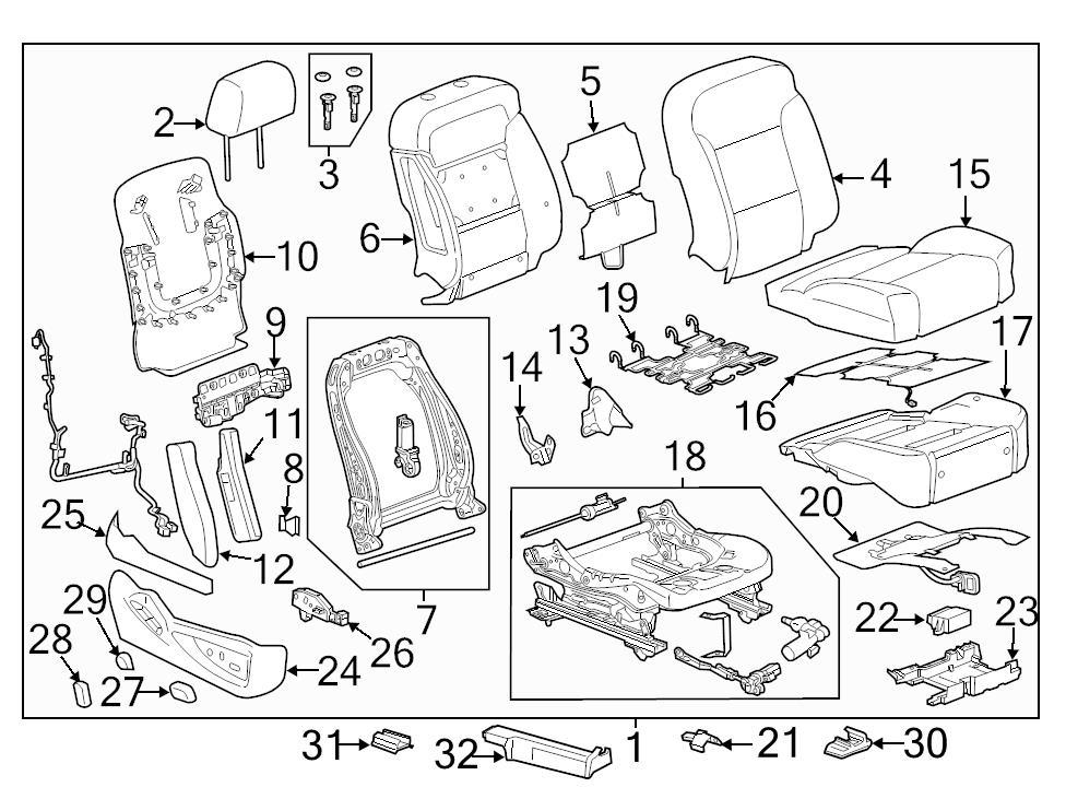 Brand New Genuine Gm Oem Power Seat Control Module 23192138