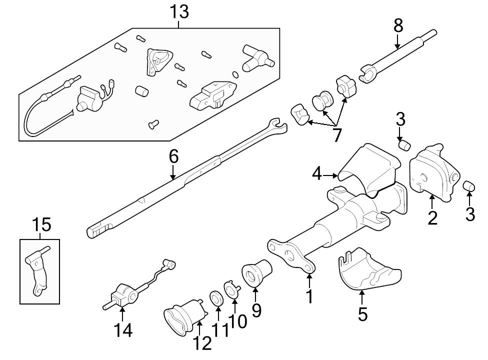 Brand New Genuine Gm Oem Steering Shaft 26034521