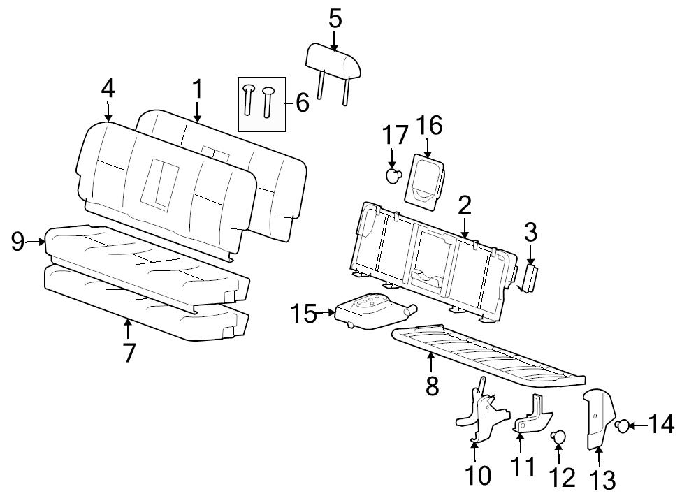 brand new genuine gm oem seat latch cover 25812534 ebay Dodge Crew Cab manufacturer part number 25812534 identifed in schematic if applicable