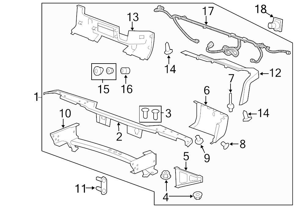 Brand New Genuine Gm Oem Bumper Step Pad Clip 15153415