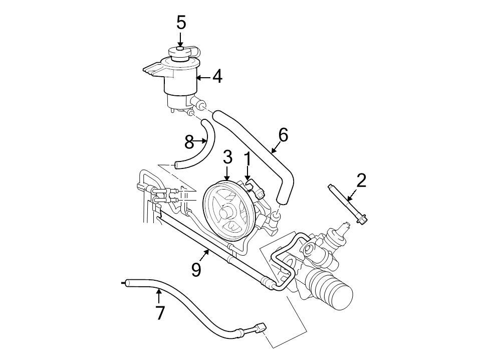 Genuine Ford Oem Power Steering Reservoir Line Hose 03 08 Crown