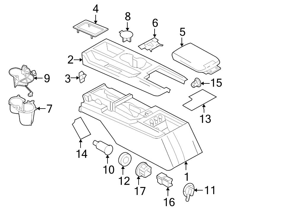 NEW GENUINE FORD OEM CONSOLE ARMREST BLACK COVER 2005-14