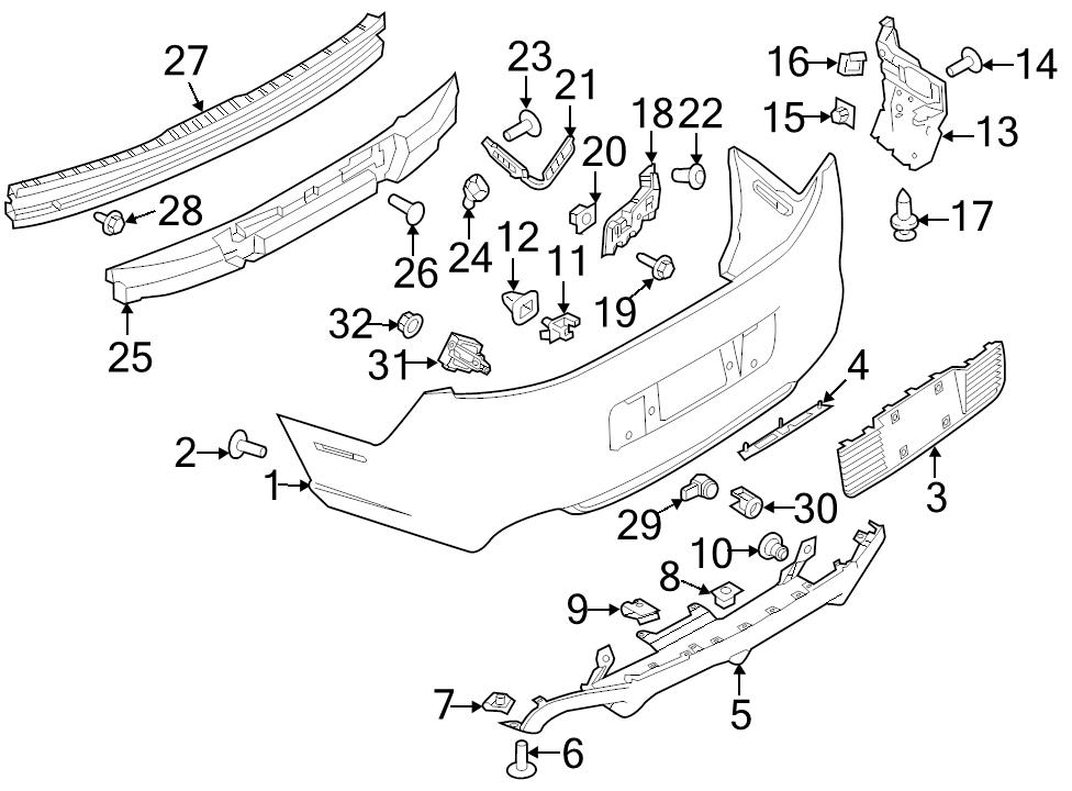 Brand New Genuine Ford Oem Valance Panel M9 Nut 2005 2014 Mustang