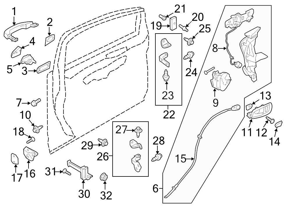 Identifed In Schematic If Applicable 10: Ford Van Door Latch Diagrams At Sergidarder.com