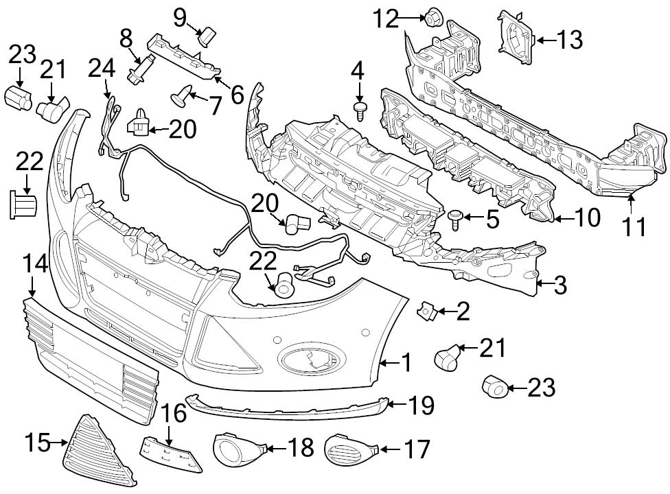 BRAND NEW GENUINE FORD OEM FRONT PARKING AID SYSTEM WIRING