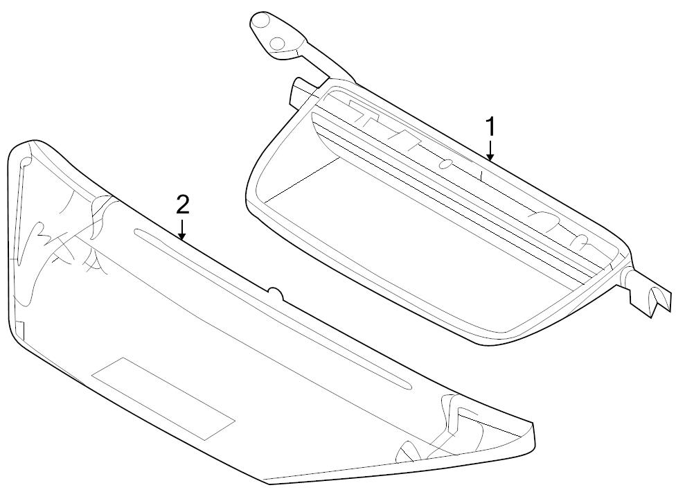 Brand New Genuine Oem Ford Rear High Mounted Lamp Assembly 2010 2015