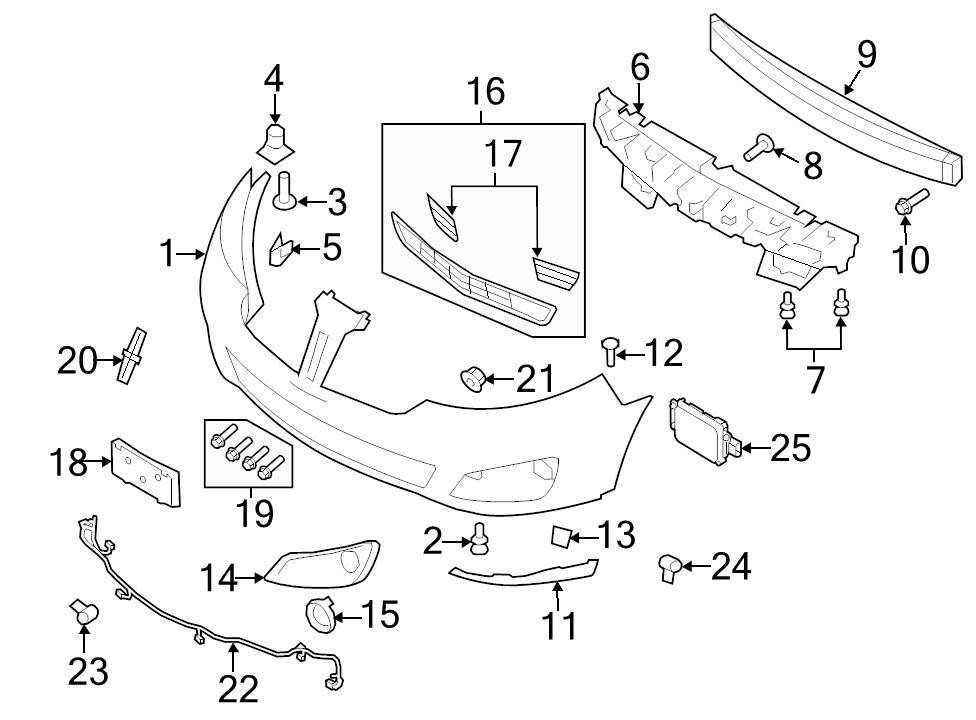 New Genuine Ford Oem Parking Aid System Wiring Harness 2009 16 Mks