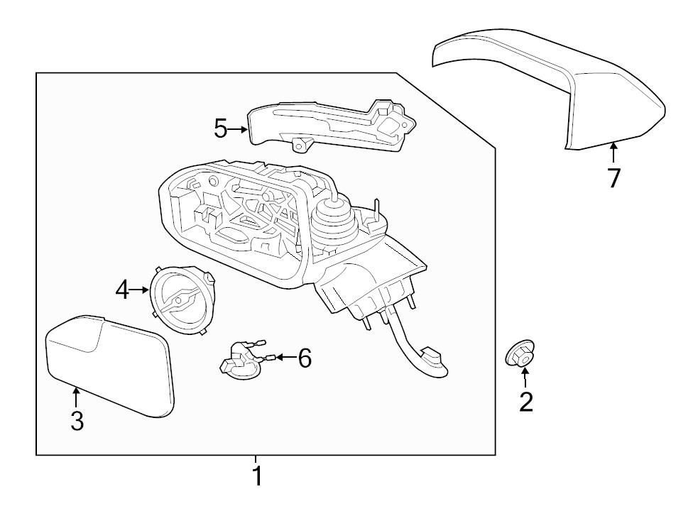 New Genuine Ford Oem Lh Left Driver Side Mirror Glass 2013 2015