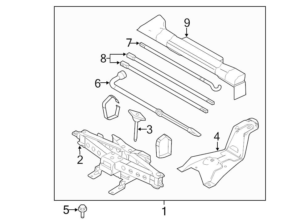 BRAND NEW GENUINE FORD OEM JACK ASSEMBLY 2004-2014 F-150