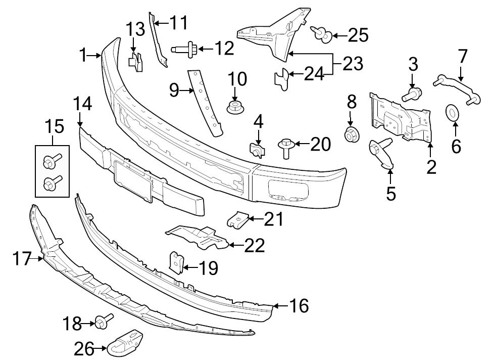 2008 F150 Front Bumper Diagram