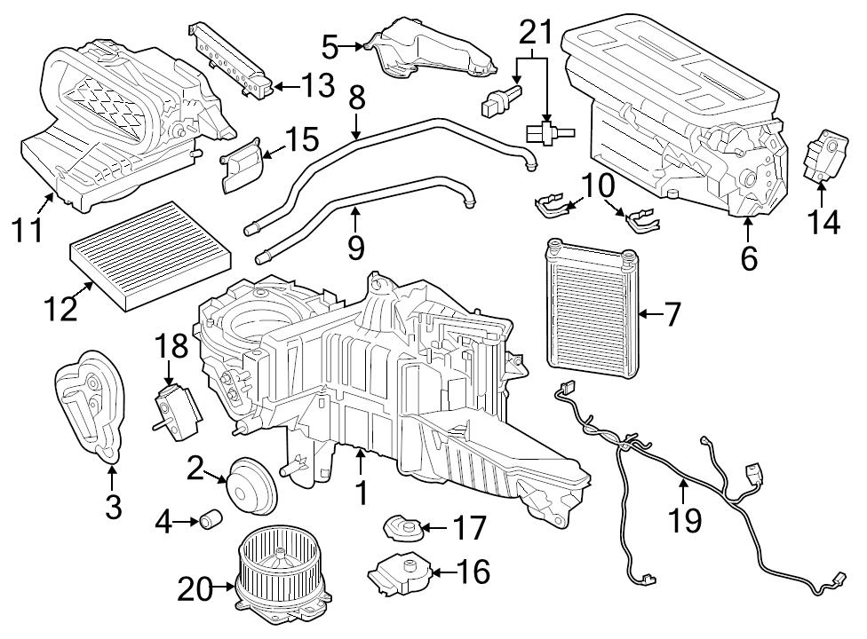 Brand New Genuine Ford Oem Hvac Heater Blend Door Actuator