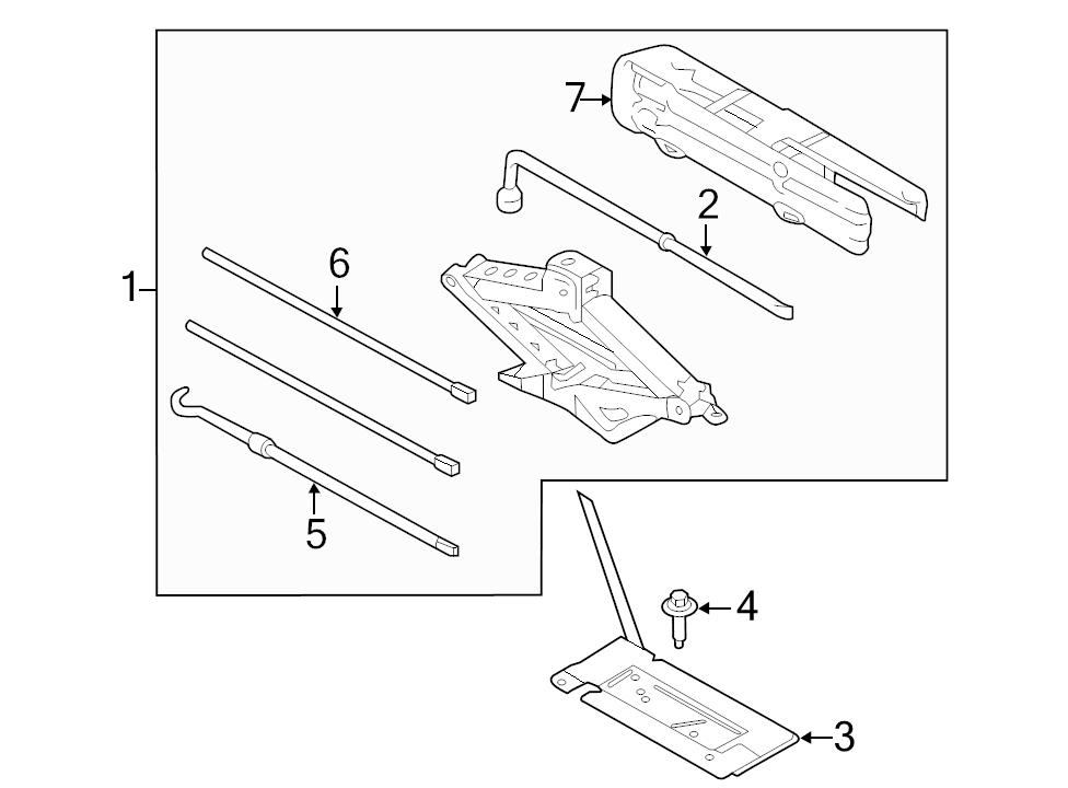 Brand New Genuine Ford Oem Jack Lifting Assembly 2015 2016 F 150