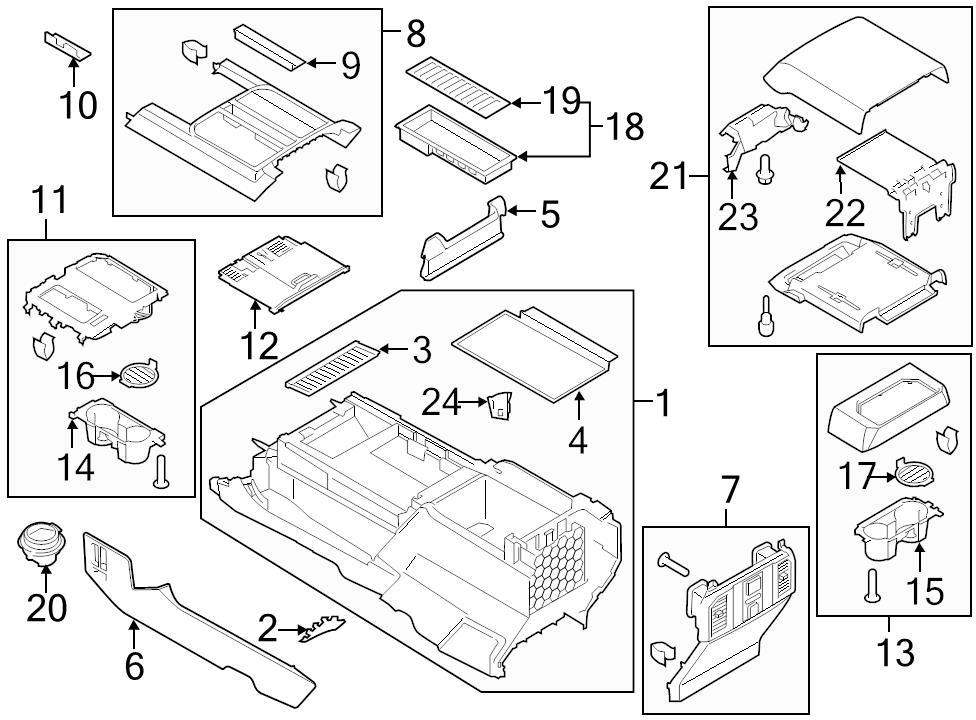3932796?refresh brand new genuine oem center console black storage tray f150 fl3z