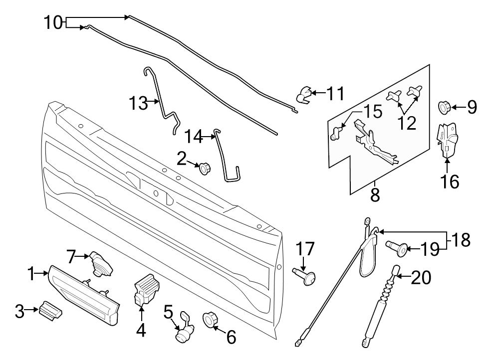 Ford F 150 Tailgate Parts Diagram