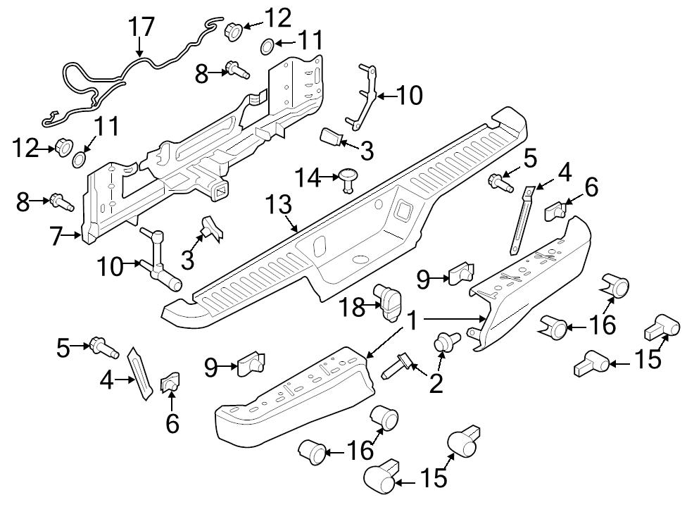 brand new genuine ford oem trailer tow harness connector 15 16 f 150 Chevy Wiring Harness identifed in schematic if applicable 18