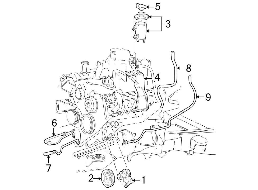 Brand New Genuine Ford Oem Power Steering Return Hose 6l3z3a713g