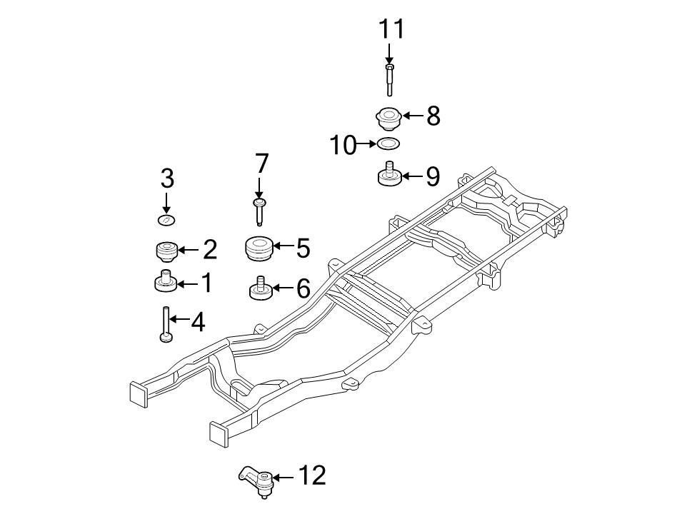 BRAND NEW GENUINE Ford Oem Body Mount Cushion Bolt #w709856S439