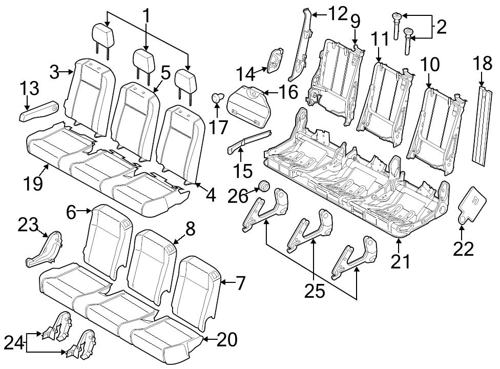 Brand New Genuine Ford Oem Seat Trim Panel Bk3z9961349aa