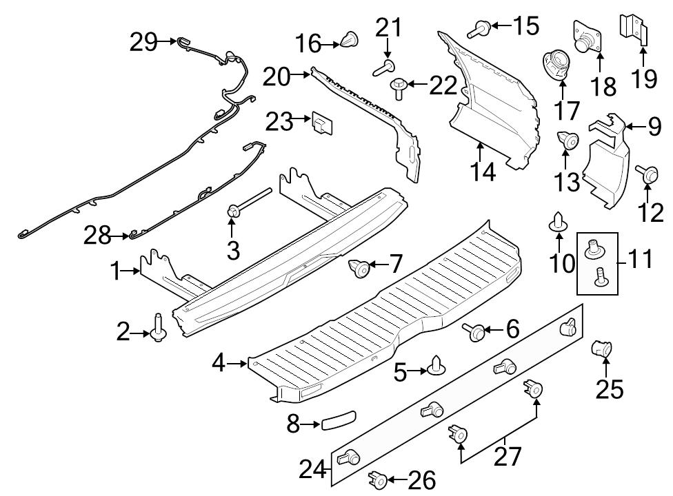 new genuine ford oem parking aid system wiring harness 15