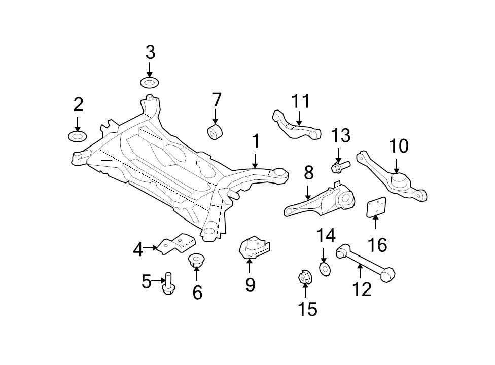 Brand New Genuine Ford Oem Rear Lower Lateral Arm 2007 2015 Edge Mkx