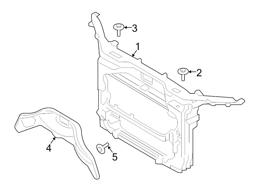 BRAND NEW GENUINE FORD OEM RADIATOR SUPPORT PANEL REINFORCEMENT #CT4Z16707A