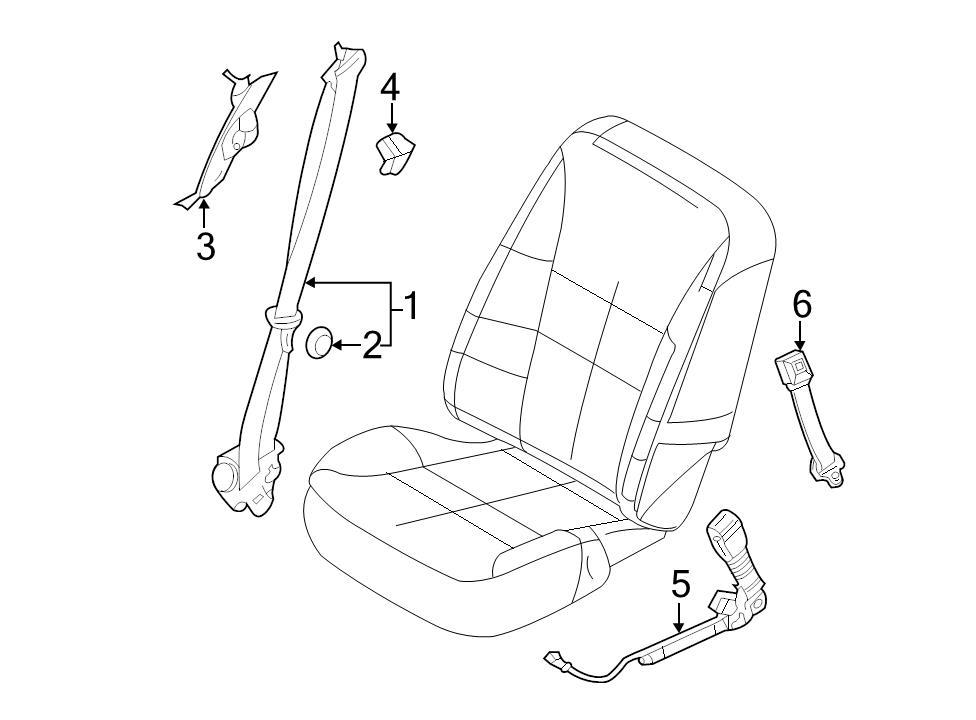 Brand New Genuine Ford Oem Seat Belt Lap And Shoulder Belt