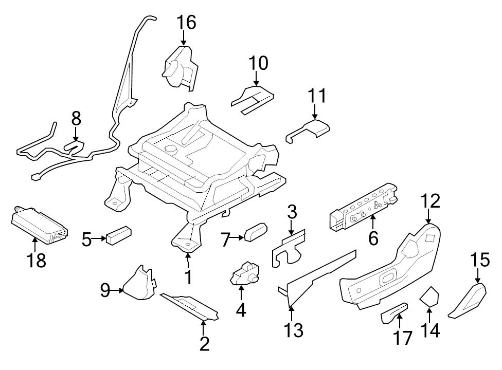 NEW OEM RIGHT SIDE FRONT SEAT TRACK 10-13 FORD EDGE