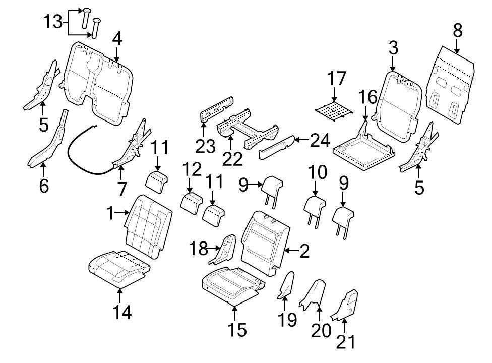 New Oem 2nd Row Rear Lh Side Seat Pivot 2009 11 Ford Flex 2010 2011