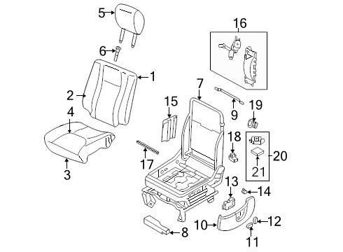BRAND NEW GENUINE FORD OEM FRONT SEAT TRIM PANEL 03-16