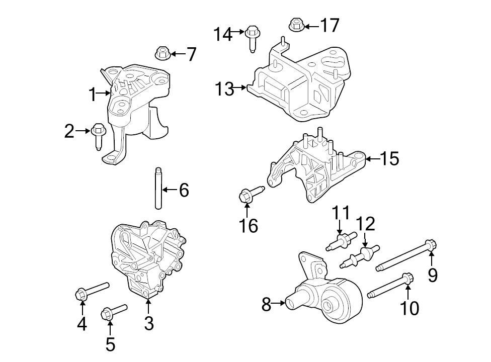 Brand New Oem Transmission Torque Arm Mount 2014 15 Ford Fiesta C1bz