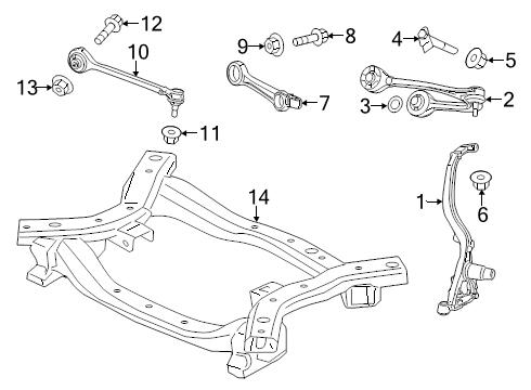 BRAND NEW OEM FRONT SUSPENSION CROSSMEMBER CHRYSLER 300