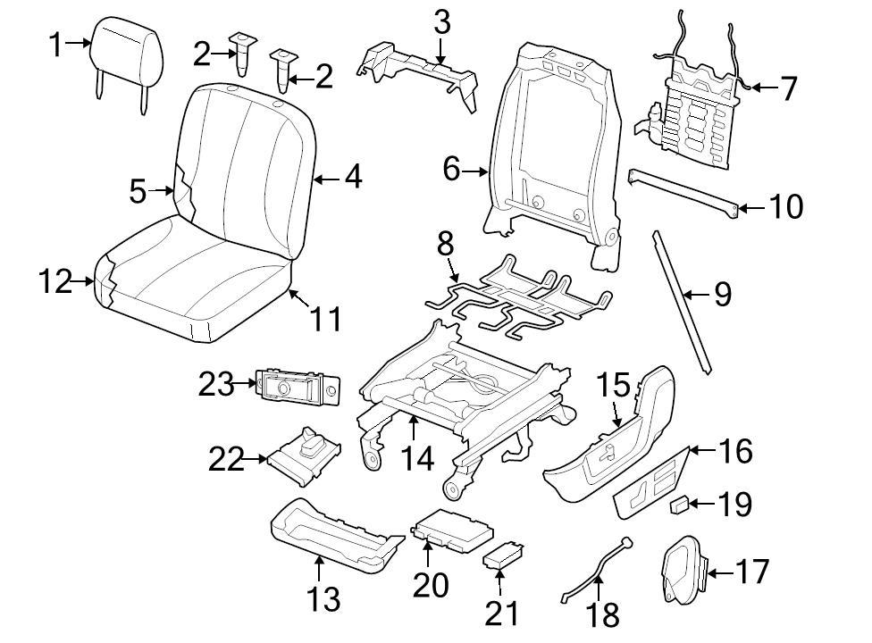 New Genuine Oem Brown Locking Headrest Guide Sleeve Dodge Ram 1500
