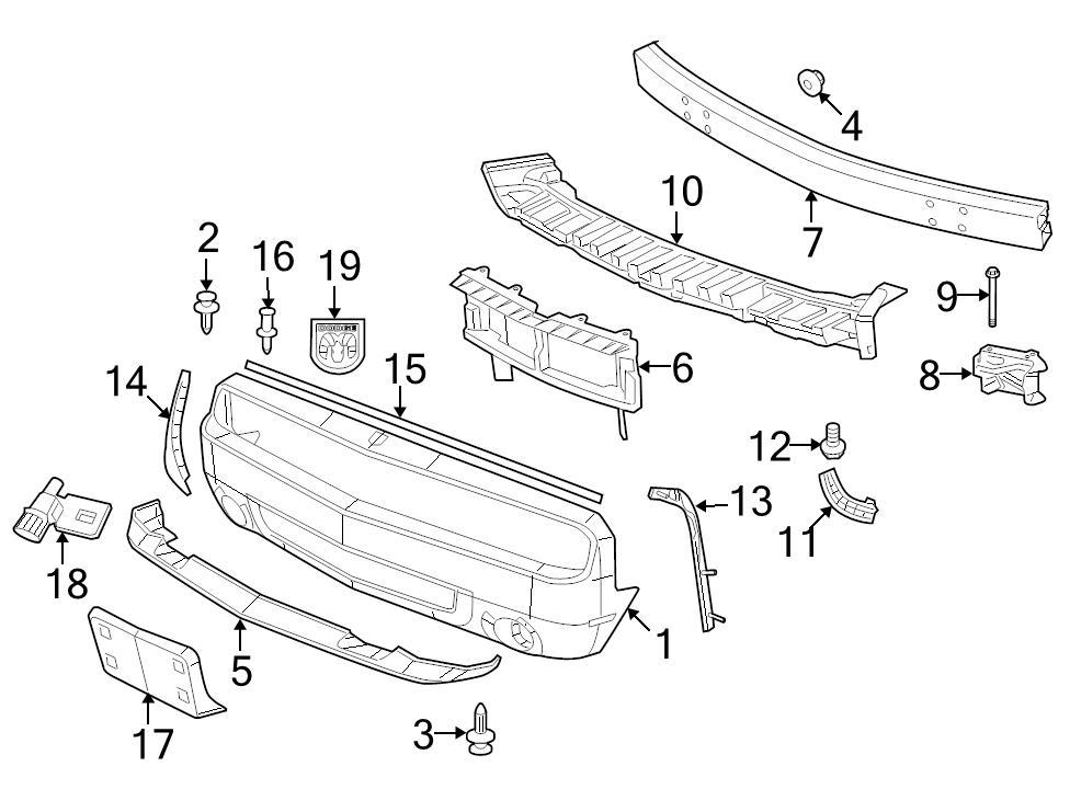 brand new oem rear fascia push pin dodge caliber