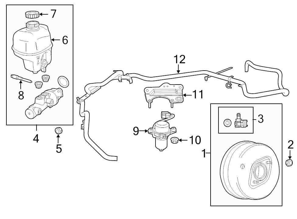Nuevo genuino oem Power Brake Booster Vacío Manguera 2014